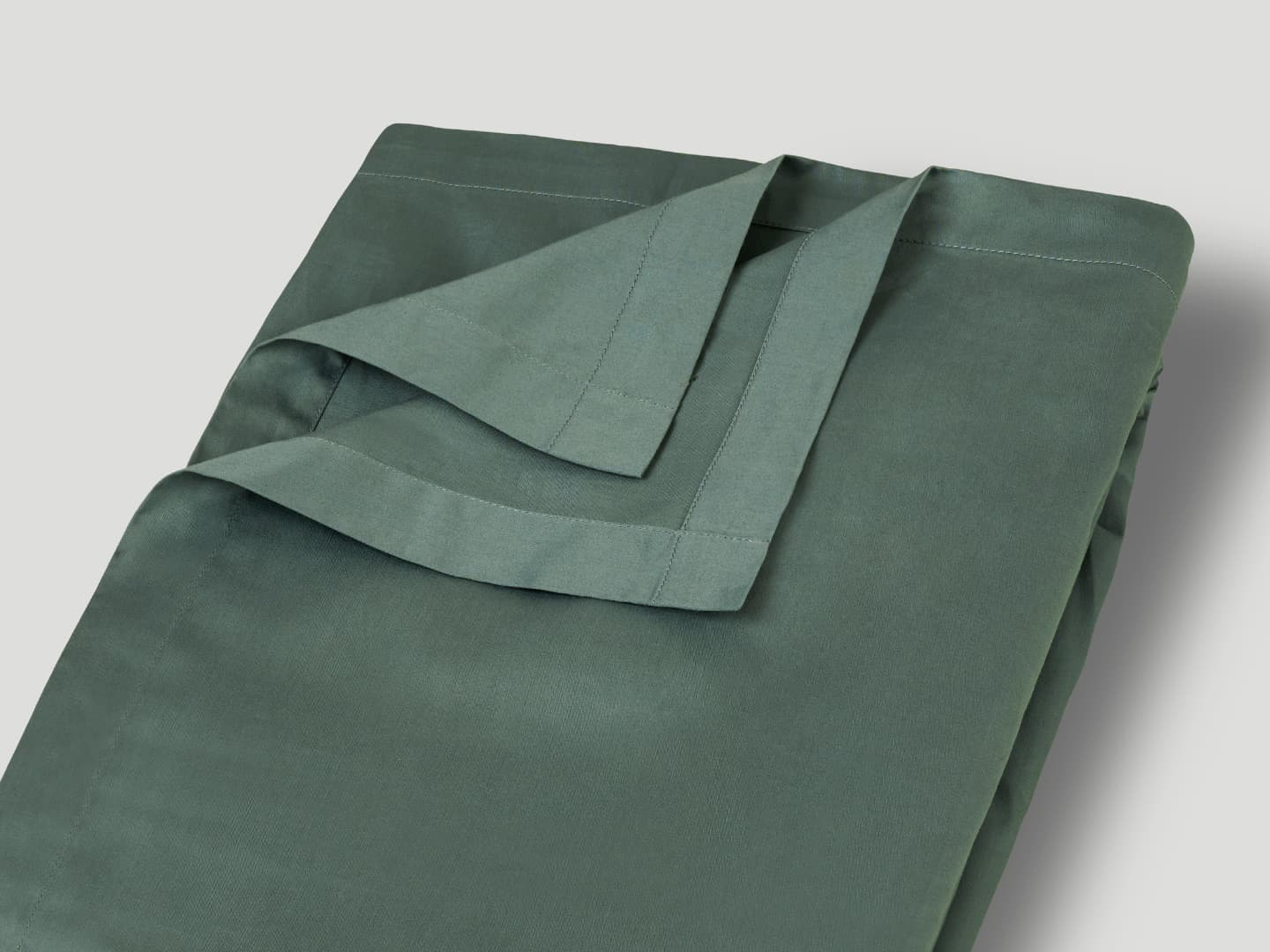 Underlakan Lind - Washed Bottle Green